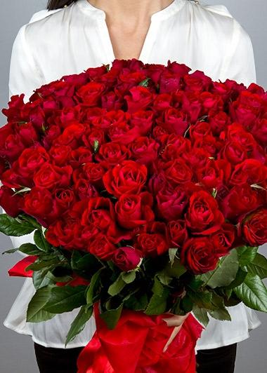 KUCAK DOLUSU 100 GÜL BUKETİ - ısparta çiçekçi