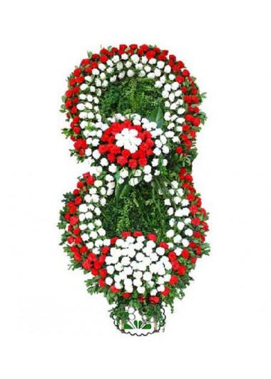 ÖZEL TASARIM BÜYÜK CENAZE ÇELENGİ - ısparta çiçek siparişi