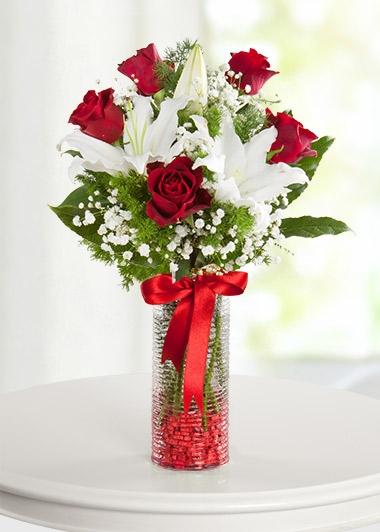 VAZODA 5 GÜL ve LİLYUMLAR - ısparta çiçek
