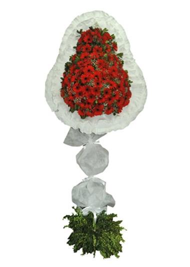 KIRMIZI GERBERA TEKLİ ÇELENK - ısparta çiçekçiler