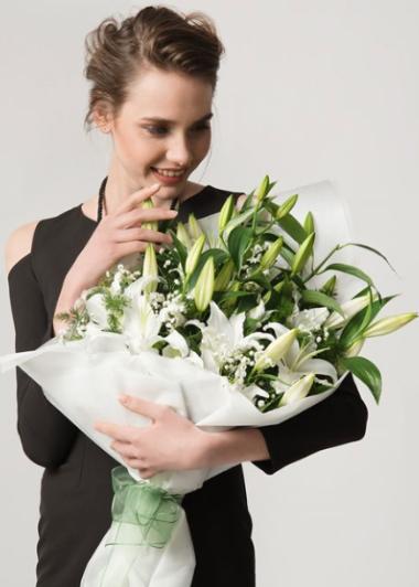 MASUM AŞK LİLYUM BUKETİ - ısparta çiçek